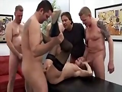 Xhamster - German mature gangbanged in all holes