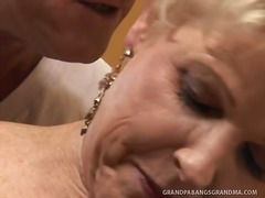 Over Thumbs - BBW Granny Champagne B...
