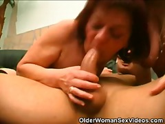 blowjob, threesome, granny,