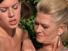 Mom seduces sons gf outdoors