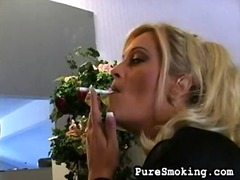 Glamorous smoking Blon... video
