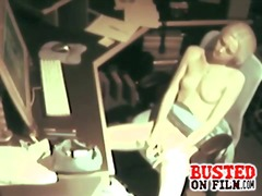 Spy At Desk Masturbating video
