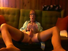 mature, amateur, stockings, solo,