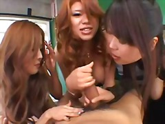 Three Japanese harlots and a gent hav...