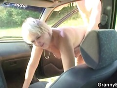 cumshot, blonde, outdoors, blowjob