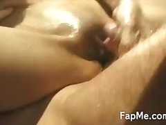 SEXY ASIAN GIRL PLAYS WITH A COCK