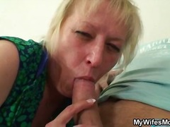 mature, blonde, hardcore, blowjob
