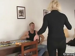 Mature blonde takes it... video