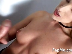 Hot doll having funtime around the big cock