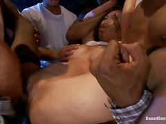 gangbang, hole, group, asian, interracial