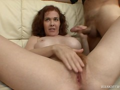 Over Thumbs Movie:Redhead MILF Mae Victoria Jack...