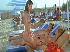 Valerie kaprisky bare revealing us her bare breasts, ass, bush in various bare action scenes. from Meduses.