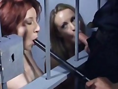 Anal threesome in jail