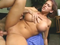 Fake boobs porn slut Eve Lawrence fucked hard