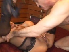 Win Porn - Busty mature redhead with huge melons swallows his old cock and gets ass fucked