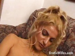 Stockinged wife near f...