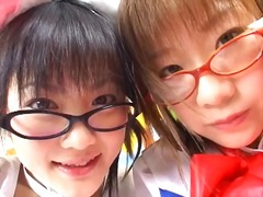 Two cute young Japanes...