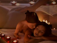 Oily lesbian massage w... video