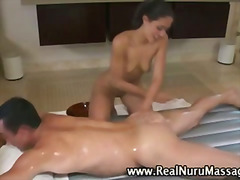 Thumb: Hot massage babe sucks...