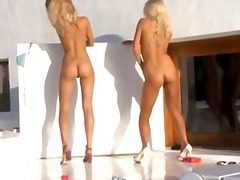 Two blondie angels in high... - 05:24