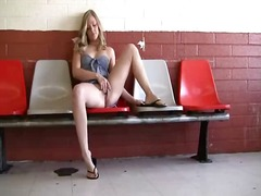 Drew toys nearby her s... video
