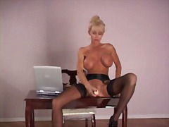 masturbation, stockings, milf,