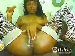 webcam, ebony, nylons, toys,