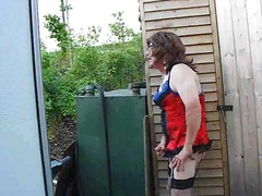 outdoors, crossdresser, amateur,