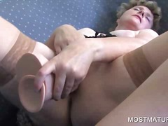 mom, masturbation, dildo, mature, toy, solo