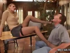 Stocking MILF Gives Fo... video