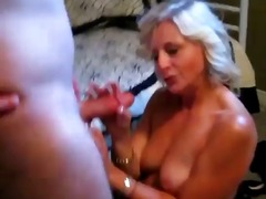 Thumb: Golden haired mature s...