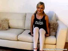 Awesome blonde amateur British teen s...