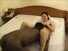 Filming his wife creampied by black t...
