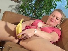 Mature chick fucking a banana - 01:20