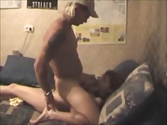 Amateur brunette on fuck and cum in m...