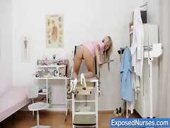 Thumb: Sexy nurse Venus finge...