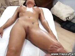 Thumb: Sexy brunette gets  pu...