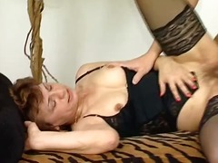 Mature redhead blows h...