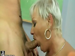 mature, cock-riding, mom, blowjob