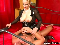 Femdom blonde fucks co... video