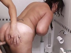 Restroom sex for a fat slut - 01:16