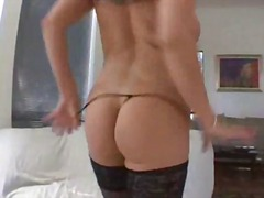 Alpha Porno Movie:G string tease and a hot blowjob