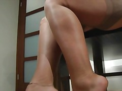 Xhamster Movie:Shiny nylon feet