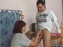 Sewing granny fucked h...