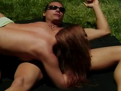 Randy redhead gets fucked by a long-haired hulky hunk's hefty hard-on