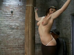 fetish, shaved, girl-on-girl, bondage, slave, clamps, squirt, orgasm, nextdoor, humiliation