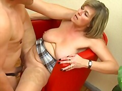Pierced German MILF with lots of ring...