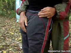 Granny Outdoor Sex - 03:00