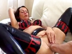 Latex whore anal fisted