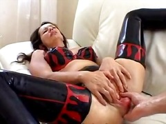 Latex whore anal fisted video